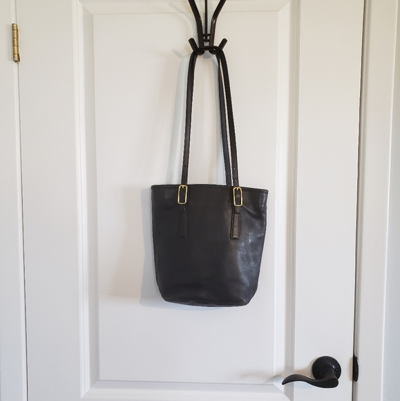 COACH Vintage Black Glove Tanned Leather Tote Bag
